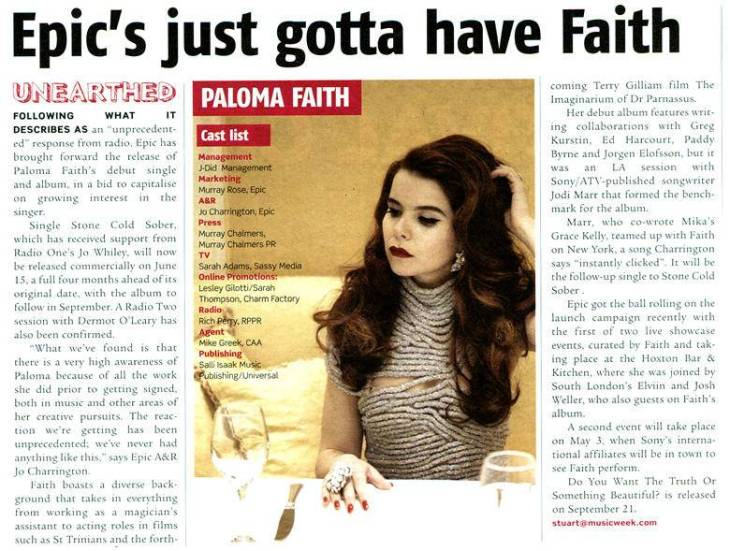 Paloma Faith - Music Week