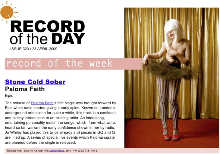 Paloma Faith - Record Of The Day