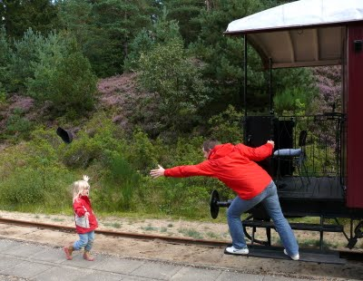 Me trying to meet James on the train, if I was a small child and James was my father.
